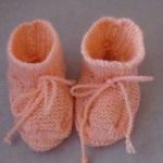 Růžové papučky se šňůrkou