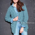 Modrý kabátek Merino