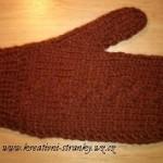 Hnědé rukavice palčáky