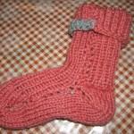 Teplá zimní ponožka