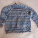 Raglánový pulovr pletený shora