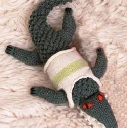 šedý krokodýlek