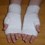 Štrikované bezprstové rukavičky