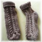Ponožky s copánkovým vzorem