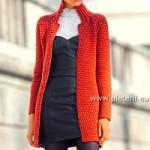 Elegantní pletený kabátek