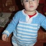 Modrobílý svetřík Elian Mimi