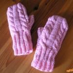 Palčáky pletené na dvou jehlicích