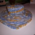 Melírovaný pletený nákrčník
