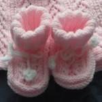 Pletené papučky do porodnice