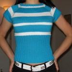 Raglánové tričko pletené shora dolů