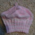 Růžová srdíčková baretka