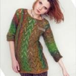 Příčně pletený pulovr Murano Lace