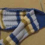 Ponožky štrikované na dvoch ihliciach