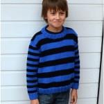 Pásikavý pulóver
