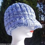 Pletená čepice Kšiltovka