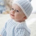 Baby svetřík a čepička s uzlem