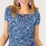 Melírované raglánové tričko