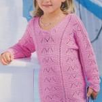 Dívčí pulovr v barvě pink