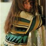 Dětský bavlněný pulovr se žakárským vzorem