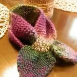 Pletená provlékací šálka