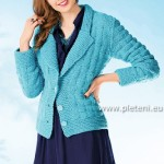 Tyrkysový kabátek Meike