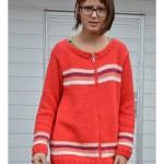 Dievčenský pásikavý sveter na zips