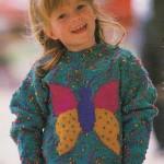 Dětský pulovr s motýlem