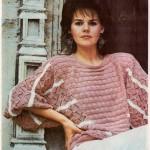 Dámský pohodlný pulovr z bavlny