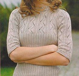 Dívčí vzorovaný pulovr