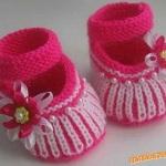 Bílo-růžové sandálky