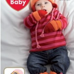 Čiapka, rukavice a papučky RED HEART