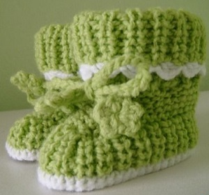zelené bačkůrky s tkaničkou