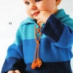 Tříbarevný pulovr