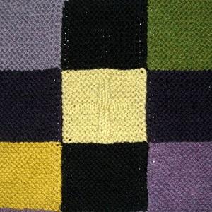 pletená deka nebo přehoz