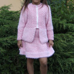 Růžový kabátek se sukýnkou
