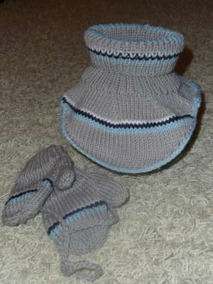 šedý s rukavičkami