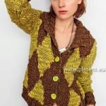 Hnědožlutý svetr Mariana
