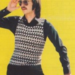Černobílý pulovr bez rukávů
