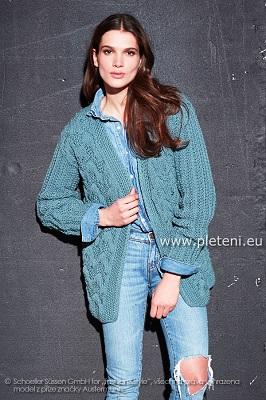 3fe3dd5bfad3 Modrý kabátek Merino – PLETENÍ – NÁVODY