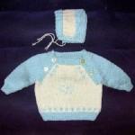Dojčenský pulóver a čiapočka