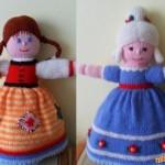 Oboustranná pletená panenka