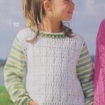 Dětský pulovr s pruhovanými rukávy