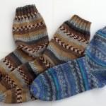 Pletené ponožky s bumerangovou pätou