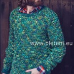 Zeleně melírovaný pulovr Country Tweed