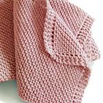 Dětská deka pletená diagonálně