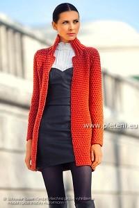 22495465124b Dámský kabátek Merino Návod na ručně pletený dámský kabátek elegantního  střihu pro velikosti 36 38
