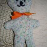 Jednoduchý pletený medvídek