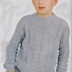 Šedý chlapecký pulovr
