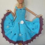 Modré šaty pro panenku Barbie