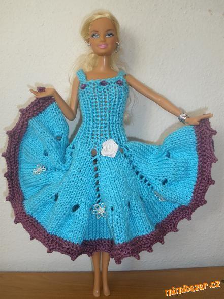 16412a7dd7fd Modré šaty pro panenku Barbie – PLETENÍ – NÁVODY